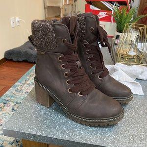 Roxy Heeled Combat Boot